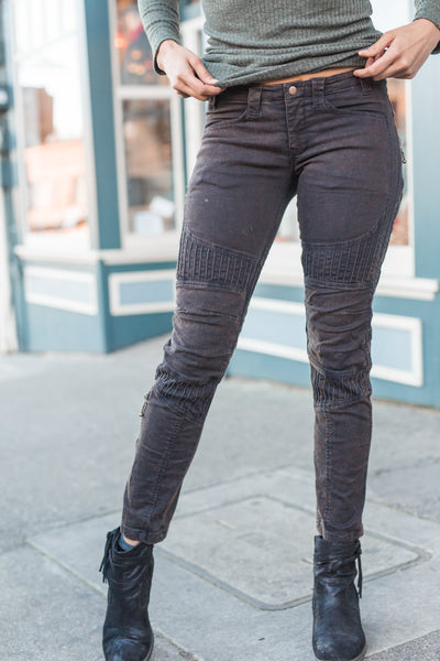 Org. Ladies Moto Maxx Jeans - Chocolate