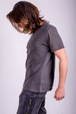 Mens T'shirts Org. Cotton - Water - Gray
