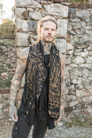 Arrow Sarong - Black Gold