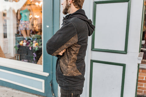 Sigil Jacket-Black Sand Gold Wing