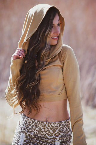 Bamboo Cowl Crop - Golden