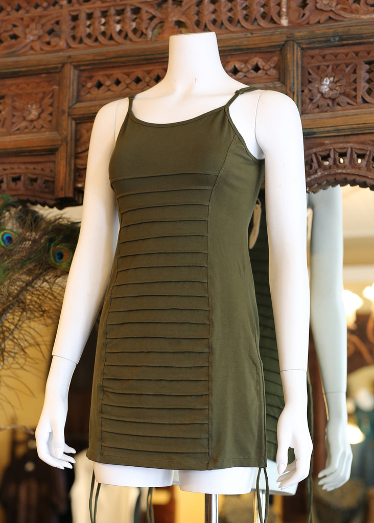 Long Corsolette Top - Olive