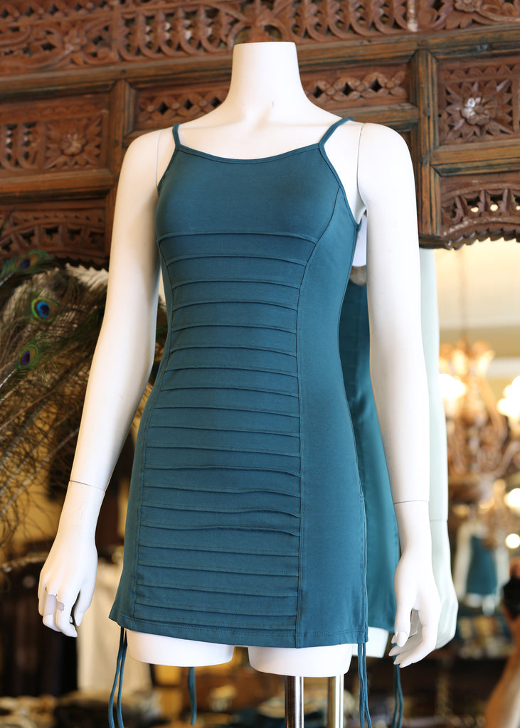 Long Corsolette Top - Teal