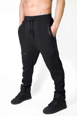 Mo' Riderz - Men's Long drop crotch baby terri cotton pants