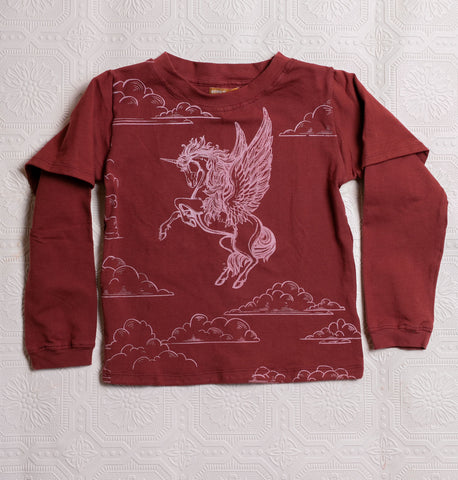 Organic Adventure T's - Red Pegacorn