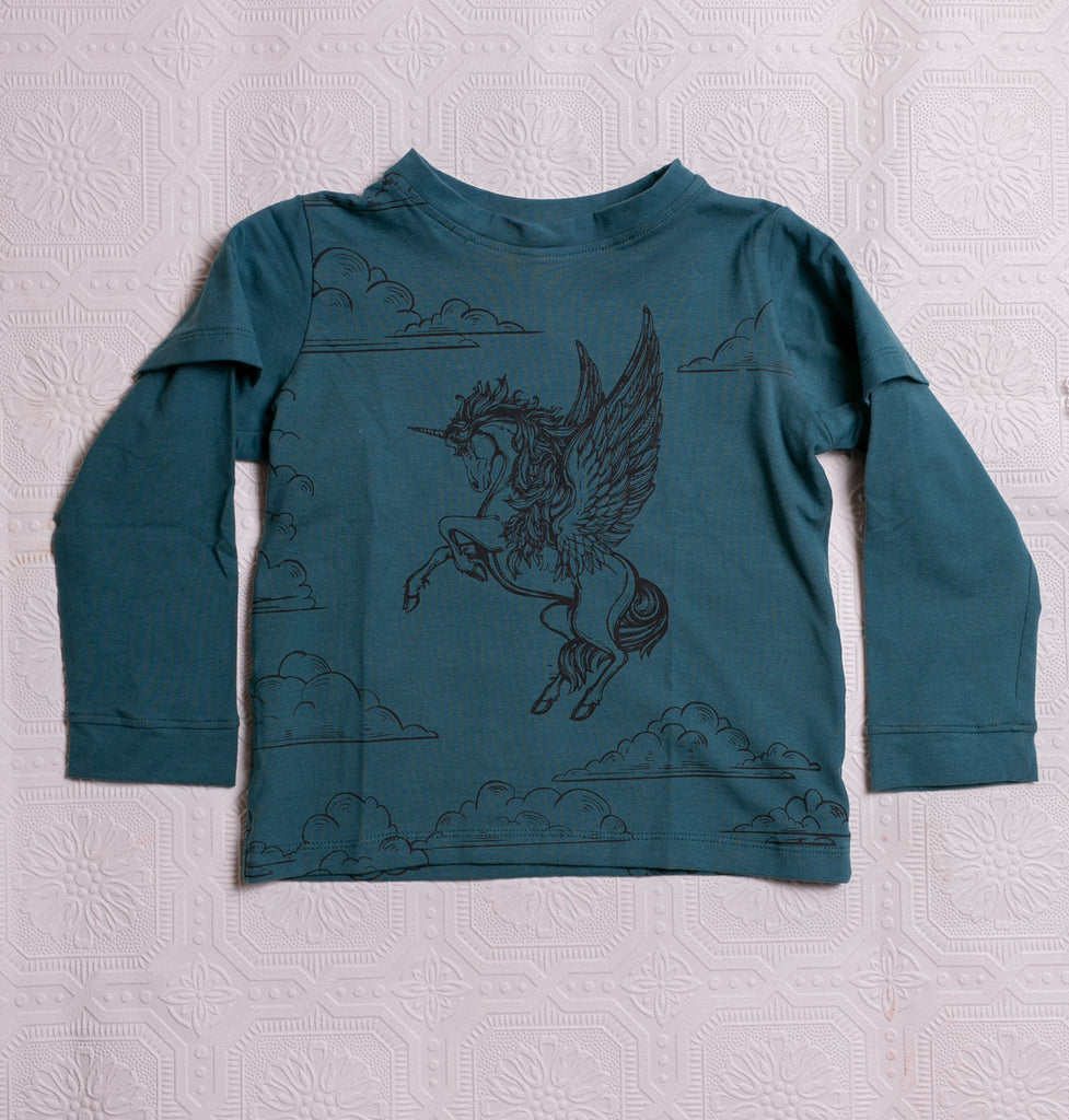 Organic Adventure T's - Teal Pegacorn