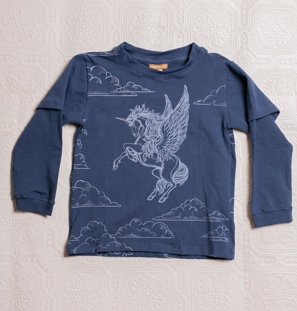 Organic Adventure T's - Blue Pegacorn