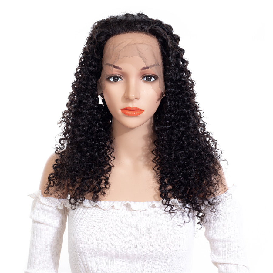 Kinky Curly Wig Lace Front Human Hair Wigs For Women Natural Black  Brazilian Wig Remy Hair Wigs 150% Density Curly Lace Front Human Hair Wigs  Natural Color afdee3b6c