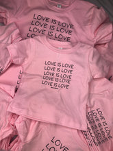 Load image into Gallery viewer, Love Is Love (pink & charcoal)