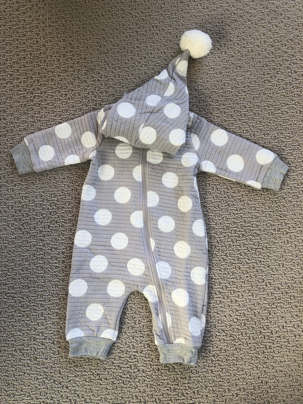 Polka Dot Hooded Romper