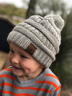 Children's Pom Beanie (Multiple Colors)