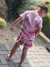 Load image into Gallery viewer, Pom Pom trim Watermelon Shorts