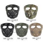 Tactical Paintball Skull Masks Outdoor Breathable Hunting Shooting Skull Mask Military Full Face