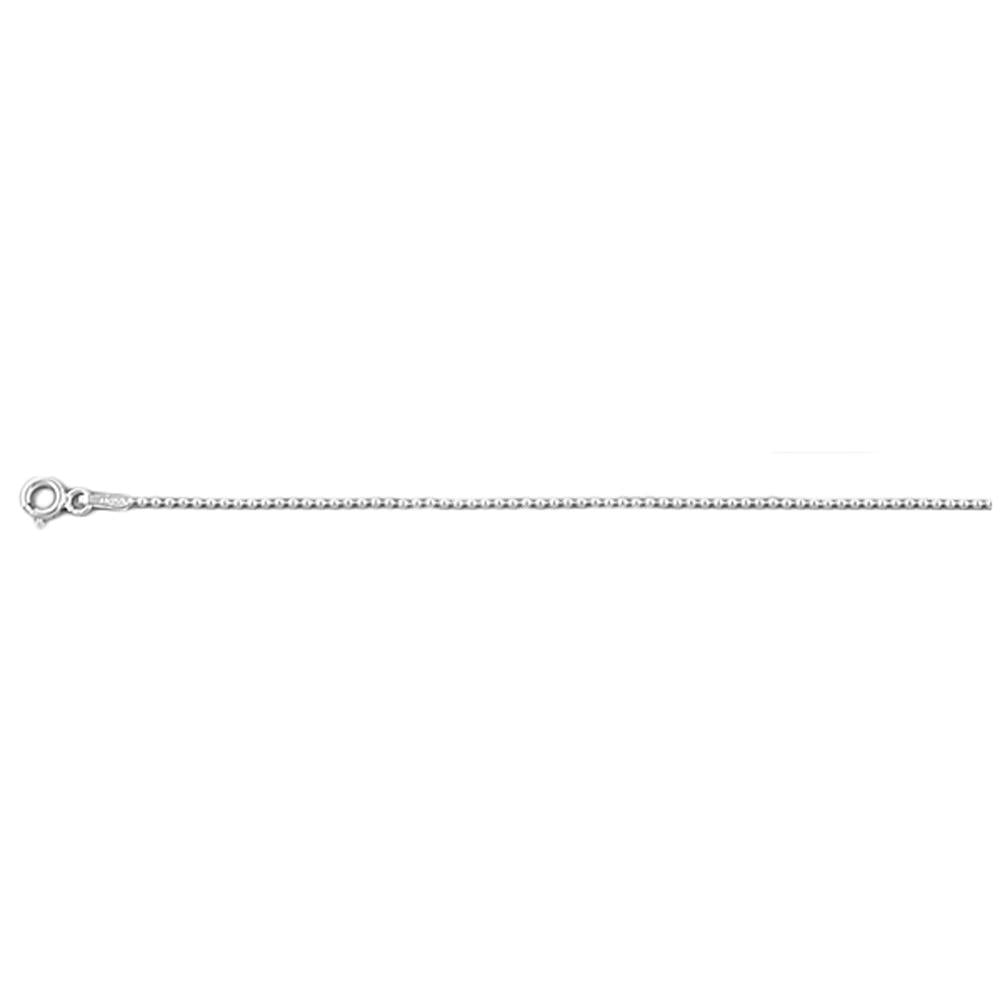 .925 Sterling Silver 1.2 MM Bead Style Chain Necklace