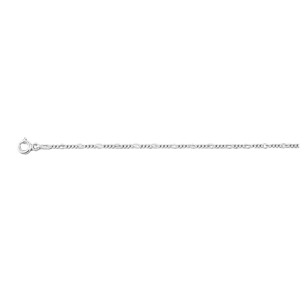 .925 Sterling Silver 1.0 MM Classic Figaro Italian Chain Necklace