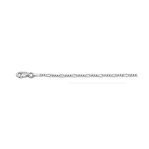 .925 Sterling Silver 2.3 MM Classic Figaro Italian Chain Necklace for Men