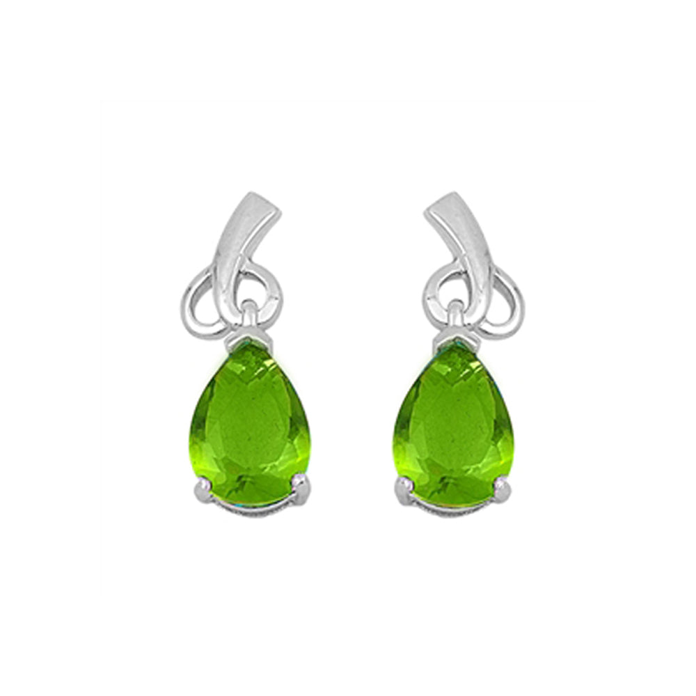 .925 Sterling Silver August Birthstone Cubic Zirconia Drop Earrings