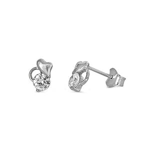 .925 Sterling Silver Baby's First Stud Earrings