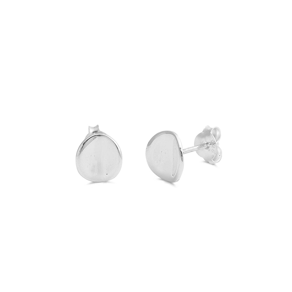.925 Sterling Silver 8mm Round Stud Earrings
