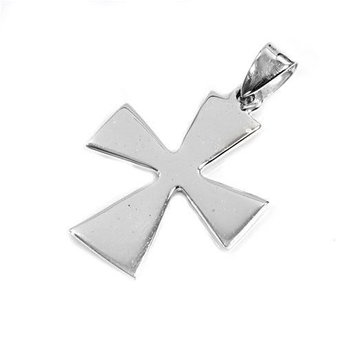 .925 Sterling Silver Plain Cross Pendant Polish Finish