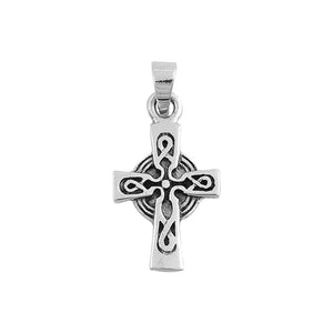 .925 Sterling Silver Celtic High Cross Pendant