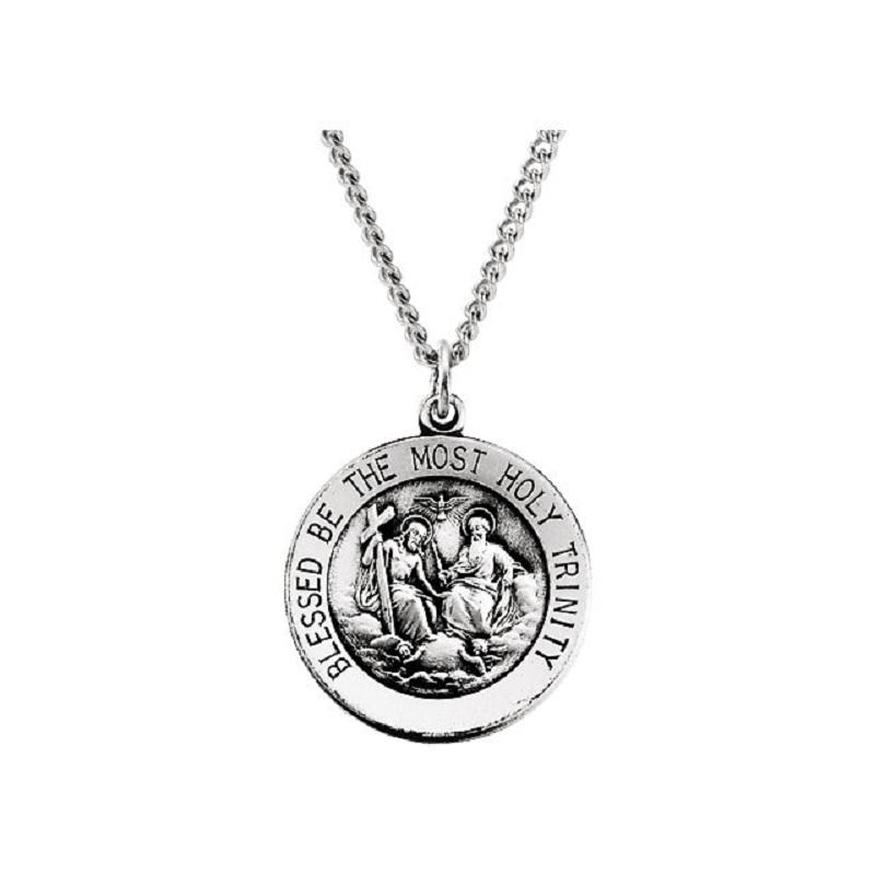 18 Chain Sterling Silver Blessed Trinity Pendant
