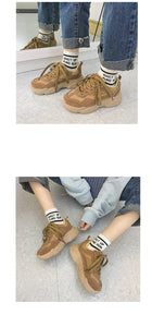 wild thick-soled vintage style shoes