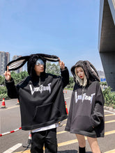 Load image into Gallery viewer, Cute rabbit ear Gothic Harajuku style Hoodie