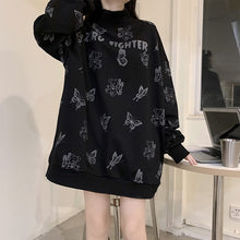 Load image into Gallery viewer, Gothic Butterfly Bear Print Fashion Sweatshirt