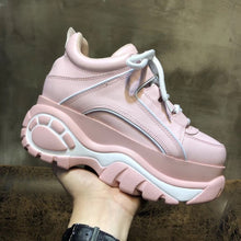 Load image into Gallery viewer, Retro high-top Thick Pink Shoes