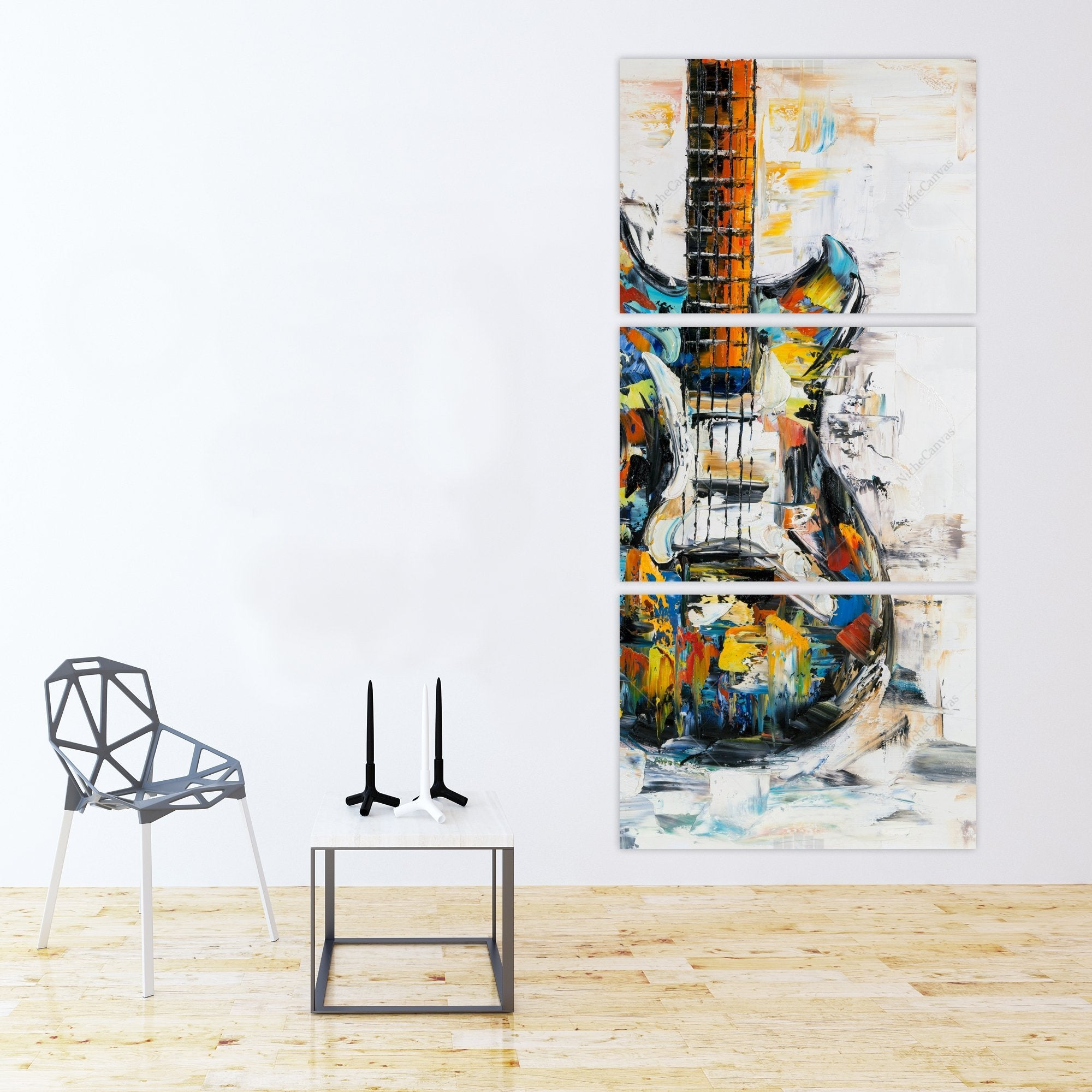 Abstract Impressionist Painting Guitar