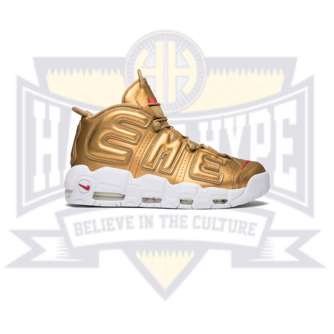 Supreme x Air More Uptempo 'Metallic Gold' - Hall Of Hype