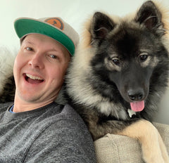 Me and my dog, Millie the Eurasier