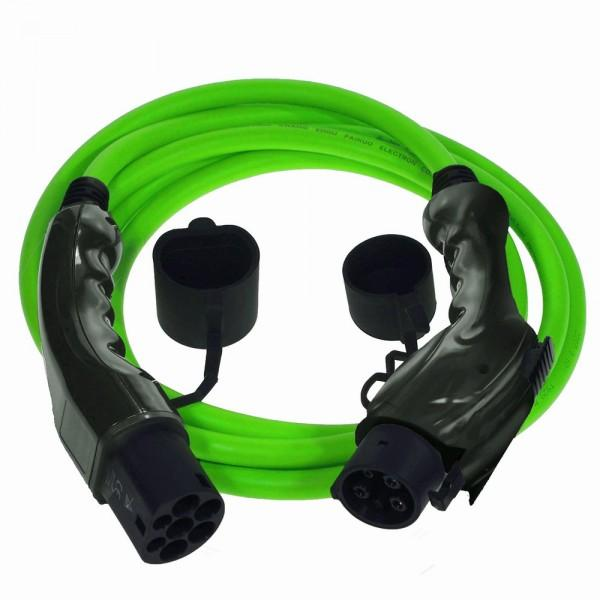 Green Type 1 EV Charge Lead