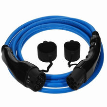 EV and PHEV Type 2 Charging Cable | Up to 50 meters.  Blue cable with black ends on a white background