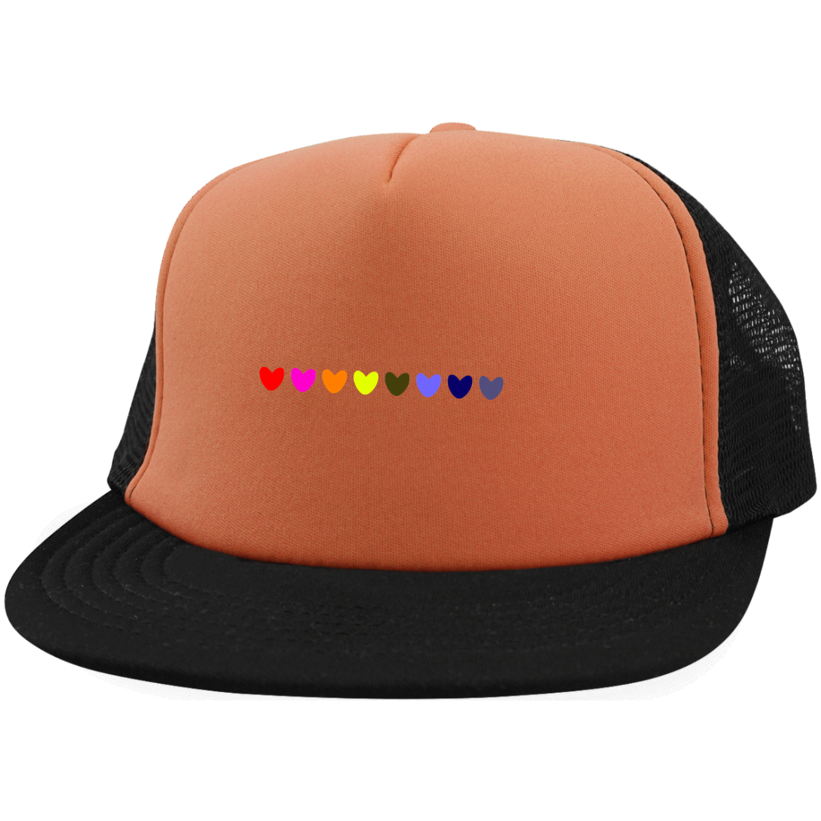 Rainbow Hearts District Trucker Hat with Snapback
