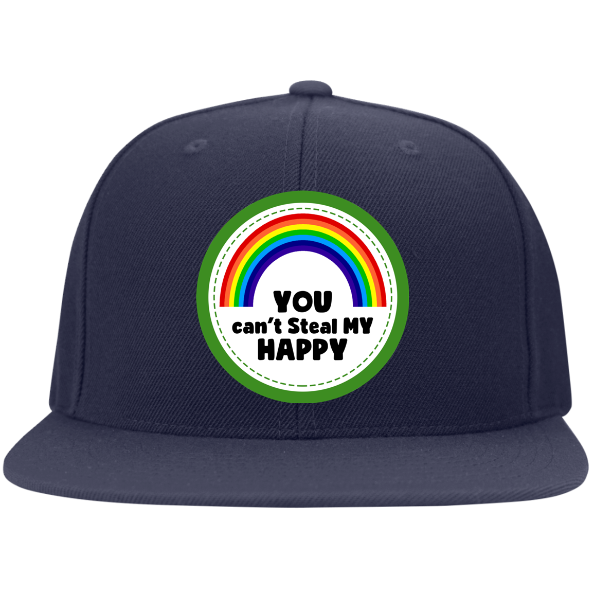 You Can't Steal My Happy LGBT  upoong Flat Bill Twill Flexfit Cap