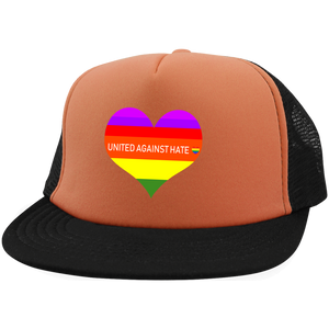 United Against Hate LGBT District Trucker Hat with Snapback