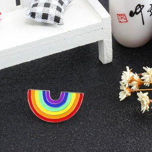 LGBT Rainbow metal brooch pins QTY 3