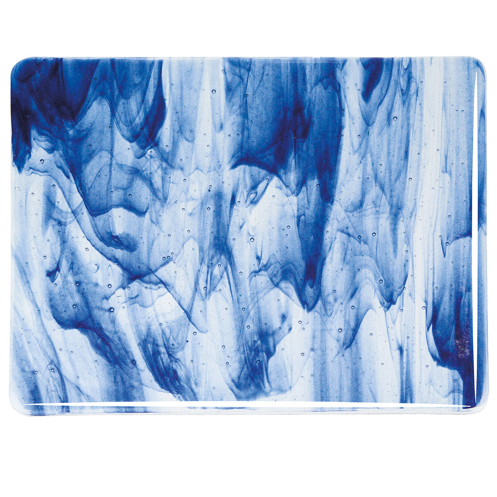 BE - 2140 Clear/Blue Aventurine Streaky Sheet