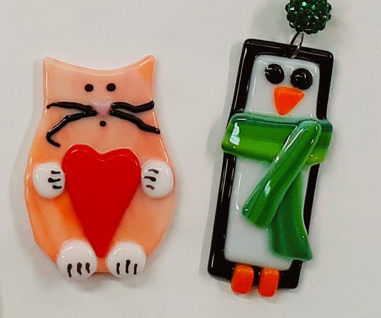 Fused Glass Holiday Ornament Project