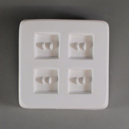 Square Button Mold 1""