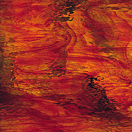 OGT - 451.2WF Streaky Red & Amber Waterglass