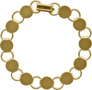 Bracelet Gold Plated Disk and Loop, Single