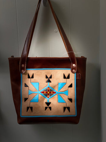 Premium Tooled Leather Tote