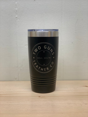20 oz Two Guns Leather Co Tumbler