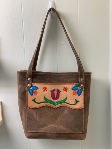 Tooled Leather Tote