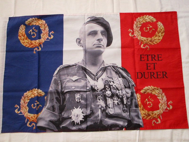 Flag General Bigeard Paras France