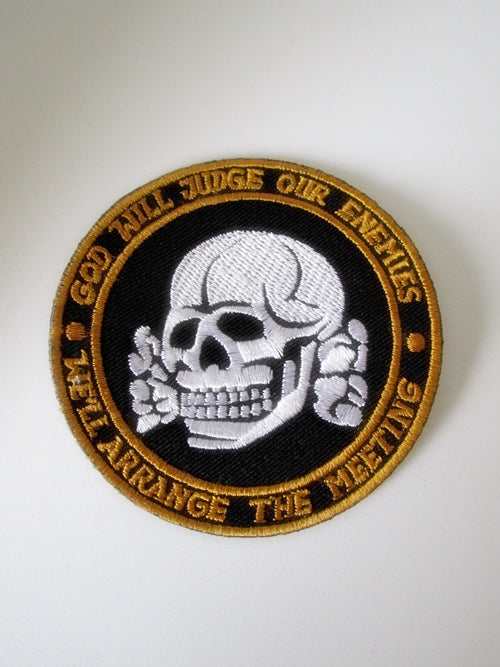 Embroidered Military Patch God Will Judge Enemies US Army Commando