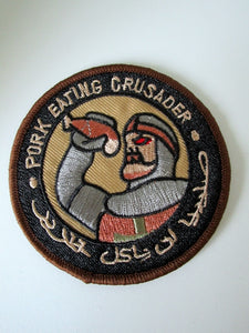 Embroidered Military Patch Pork Eating Crusader Templar Infidel